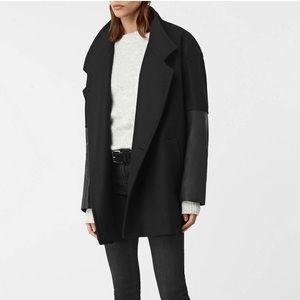 NWT ALLSAINTS Meade Lea Coat